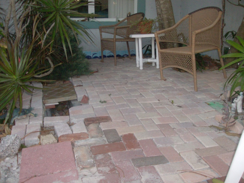 Recycled bricks to make a patio